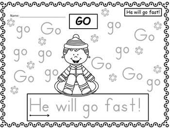 A+ 50 Kindergarten Sight Words: Winter Theme Handwriting Practice