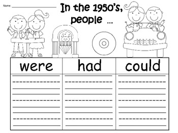 A+ 5oth Day of School: Graphic Organizers For The 1950's