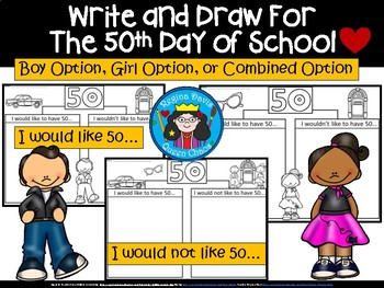 A+ 5oth Day of School: Write & Illustrate 50 Things You'd Like And Wouldn't Like