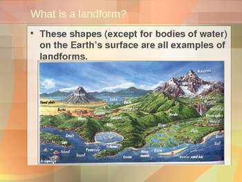 Landforms-Primary and Secondary-A 75 slide Power Point