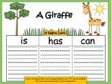 A+    A Giraffe... Three Graphic Organizers