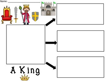 A+ A King... Three Graphic Organizers