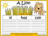 A+    A  Lion... Three Graphic Organizers
