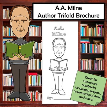A.A. Milne Biography Trifold Brochure