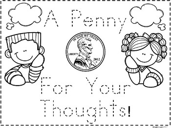 A+ A Penny For Your Thoughts Saying: Poster and Handwriting Practice