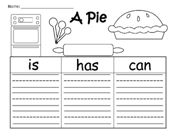 A+ A Pie.... Graphic Organizers