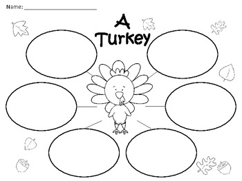 A+ A Turkey: Graphic Organizers