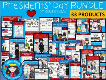 A+ Presidents' Day: Including George Washington & Abraham Lincoln  BUNDLE