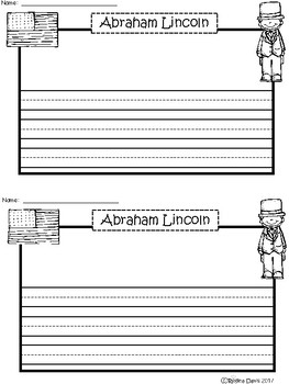 A+ Abraham Lincoln ... Writing Paper