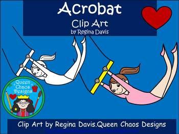 A+ Acrobat Clip Art