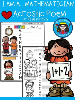 A+ Acrostic Poem: I Am A...MATHEMATICIAN