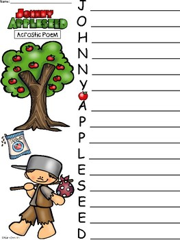 A+ Acrostic Poem: Johnny Appleseed