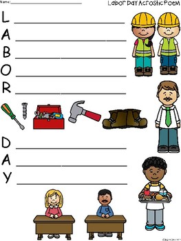 A+ Acrostic Poem: Labor Day