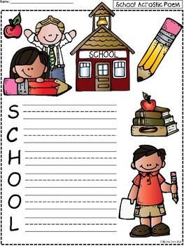 A+ Acrostic Poem: SCHOOL