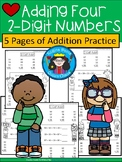 A+ Adding Four 2-Digit Numbers Pack