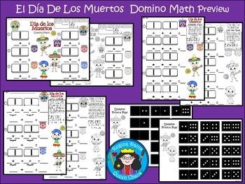 A+ Addition El Dia De Los Muertos: Domino Math