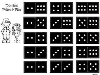 A+ Addition Thanksgiving: Domino Math