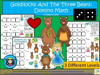 A+ Addition...Goldilocks and The Three Bears: Domino Math