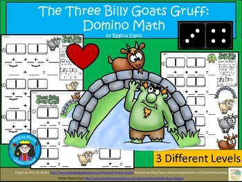 A+ Addition...The Three Billy Goats Gruff: Domino Math