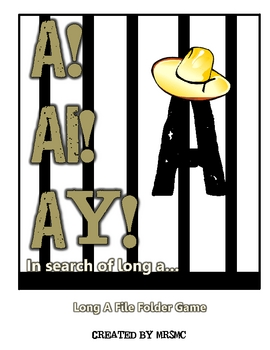 A! Ai! Ay! Long A File Folder Game