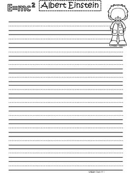 A+ Albert Einstein ... Writing Paper II