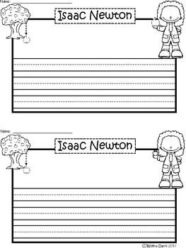 A+ Isaac Newton ... Writing Paper
