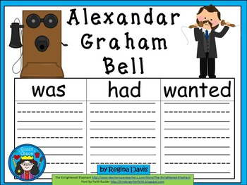 A+ Alexander Graham Bell.. Three Graphic Organizers