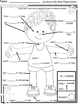 A+  All About Me...Body Measurement: Differentiated Math Instruction