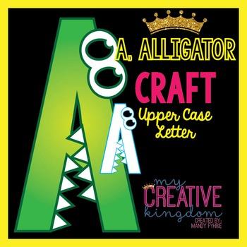 A - Alligator Upper Case Alphabet Letter Craft