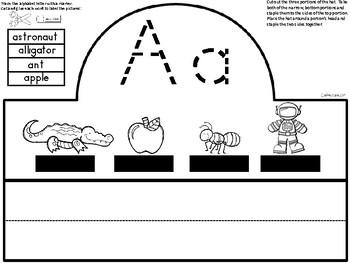 A+ Alphabet Letter Hats: Letter Aa FREEBIE