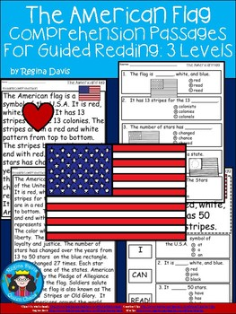 A+ American Flag Comprehension For Guided Reading...American Symbols
