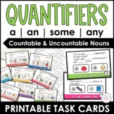 A, An, Some, Any: Practice Cards for Quantifiers Countable