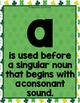 A, An, The: Articles 'o Gold - St. Patrick's Day {Anchor Chart, Cards & MORE!}