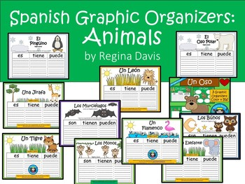 A+ Animal Spanish Graphic Organizers