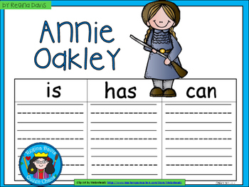 A+ Annie Oakley... Three Graphic Organizers