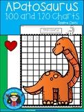 A+ Apatosaurus Dinosaur: Numbers 100 and 120 Chart