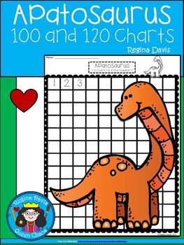 A+ Apatosaurus Dinosaur: Numbers 100 and 120 Chart