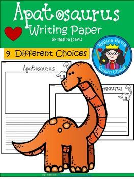 A+ Apatosaurus... Writing Paper
