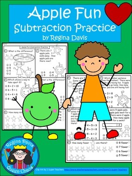 A+  Apple Fun: Subtraction Practice
