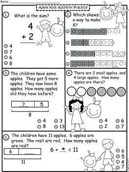 A+  Apple Kids  Math: Addition