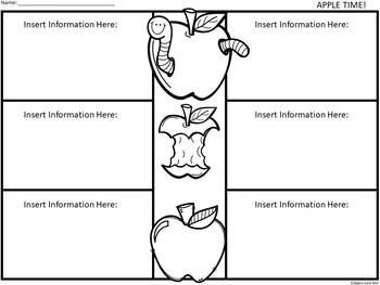 A+ Apples: Easy Plans...Editable Papers for Apple Day