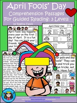A+ April Fools' Day Comprehension: Differentiated Instruction For Guided Reading