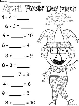 A+ April Fools' Day: Math... Addition and Subtraction Differentiated  Practice