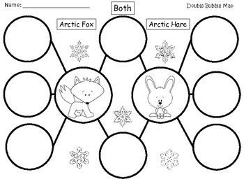 A+ Arctic Fox & Arctic Hare:  Double Bubble Maps