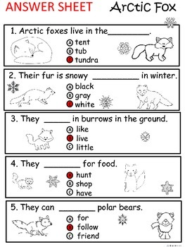 A+ Arctic Fox  Comprehension: Differentiated Instruction For Guided Reading