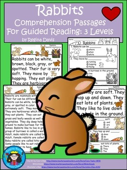 A+ Rabbits...Comprehension: Differentiated Instruction For Guided Reading