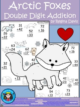 A+  Arctic Fox: Double Digit Addition