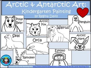 A+ Arctic and Antarctic Art: Kindergarten Painting