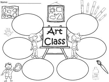A+  Art Class... Three Graphic Organizers