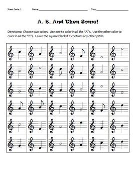 A, B, And Then Some! (Treble Clef discriminating A and B)